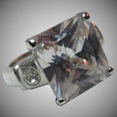 Fine Vintage CZ Cubic Zirconia  Ring  Sz 7