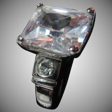 Fine Vintage CZ Cubic Zirconia  Ring  Sz 8