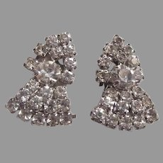 Sparkly Rhinestone Clip Earrings