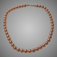 Large Simulated Pearls Necklace