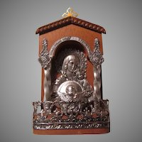 Virgin Mary Infant Jesus Small Altar Icon