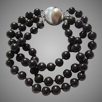 Chocolate Brown Cultured Freshwater Pearls Bracelet