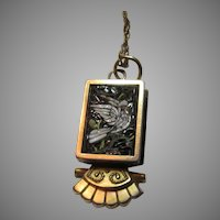 Micromosaic Bird Pendant On Gold Filled Chain