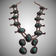 Native American Squash Blossom Necklace