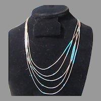 Native American Liquid Silver Necklace