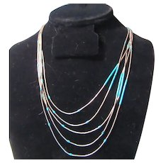 Native American Liquid Silver Necklace