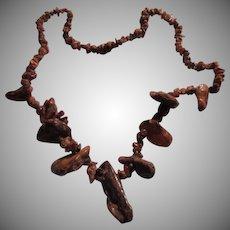 Huge Older Raw Amber Necklace