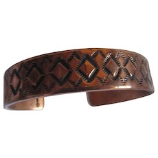 Native American Copper Cuff Bracelet