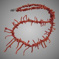 Branch Coral Necklace Graduated Sizes