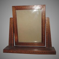 Picture Frame On Stand Fine Wood With Inlay