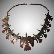 Natuive American Peyote Bird Squash Blossom Necklace