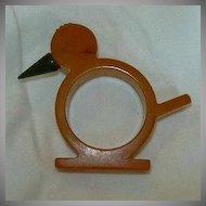 Old Bakelite Bird Napkin Ring Figurine Fine Decorative Dining & Bar Accessory