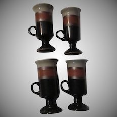Set 4 Otagiri Japan Irish Coffee or Chocolate Mugs Cups