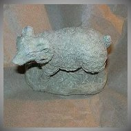 Old Ram Sheep Figure Fine Detail