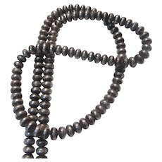Native American Silver Bench Beads Necklace