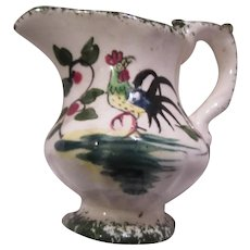 Old Japan Creamer Rooster Art Cream Pitcher Miniature