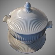 White California USA Pottery China Tureen With Underplate