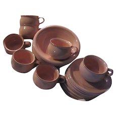Bob Van Allen Mikasa Peach China Cups Saucers Bowls Set