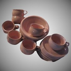 Bob Van Allen Mikasa Peach China Cups Saucers Bowls Set