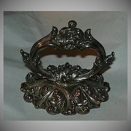 Antique Silver Plated Ornate Paperweight English Decorative Arts