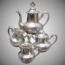 Royal Mfg Silverplate 4Pc Tea Set Dining Silver