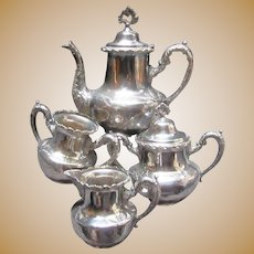 Royal Mfg Silverplate 4Pc Tea Set Dining Silver
