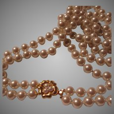 Double Strand Fine Faux Pearls