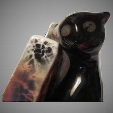 Old Black Cat Figurine Book End