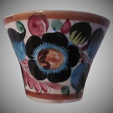 Old Mexico Hand Painted Planter Flower Design
