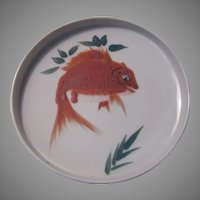 Japanese Style Hand Painted Goldfish Carp Bowl Deep plate
