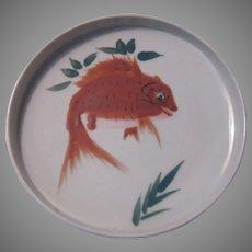 Japanese Style Hand Painted Goldfish Carp Bowl Deep plate