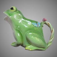 Large Frog Ceramic Pitcher Planter From Japan