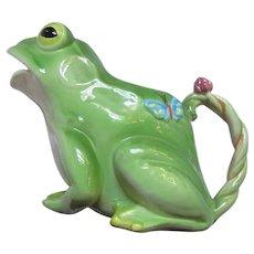 Large Frog Ceramic Pitcher Planter From Japan