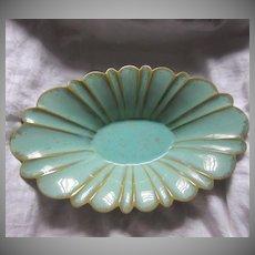Fulper Pottery Centerpiece Bowl Signed Lustrous Green Glaze