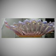 Fostoria Heirloom Pink Opalescent Glass Centerpiece Bowl Fine Old Glassware