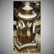 Grecian Lady Goddess Lamp Florentine Colors Fine Lighting