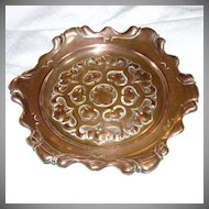 Copper Plate Scalloped Ornate Metalwork