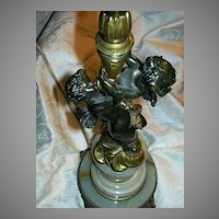 Antique Bronze Dore Lamp Cherubs Angels Fine Lighting