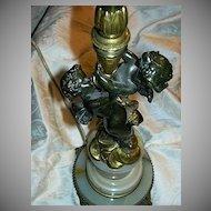 Antique Bronze Dore Lamp Cherubs Angels Fine Lighting