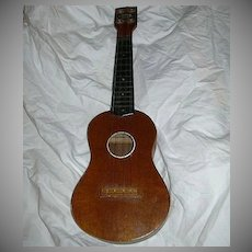 Old Barclay Miniature Guitar Ukulele Vintage Musical Instrument Woolworth