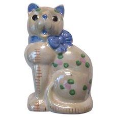 Old Japan Cat Figurine Hand Painted Kitten