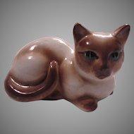 Siamese Cat Figurine Old Kitten