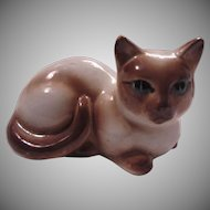 Siamese Cat Figurine Old Kitten