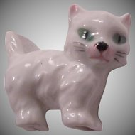 Germany Porcelain White Cat Figurine Miniature Kitten