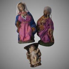 Holy Family 3 Pc Nativity Set Dressed Figurines