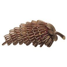 Gold Tone Sixties Brooch