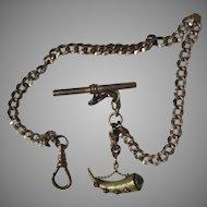 Victorian Watch Chain Unusual Fob