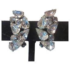 Kramer Fine Rhinestone Clip Earrings