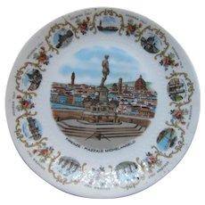 Bavaria China Souvenir Italian Plate Piazzale Michelangelo
