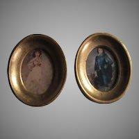 gainsborough Blue Boy and Pinkie Miniature Prints Florentine